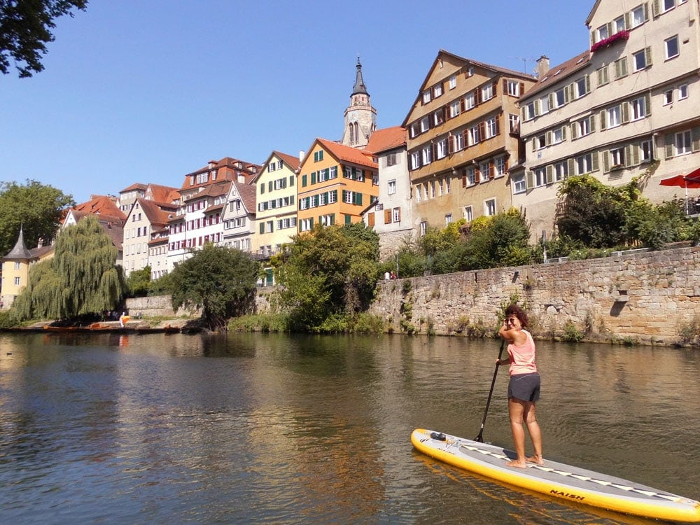 Auf dem Neckar bei Tübingen Bild