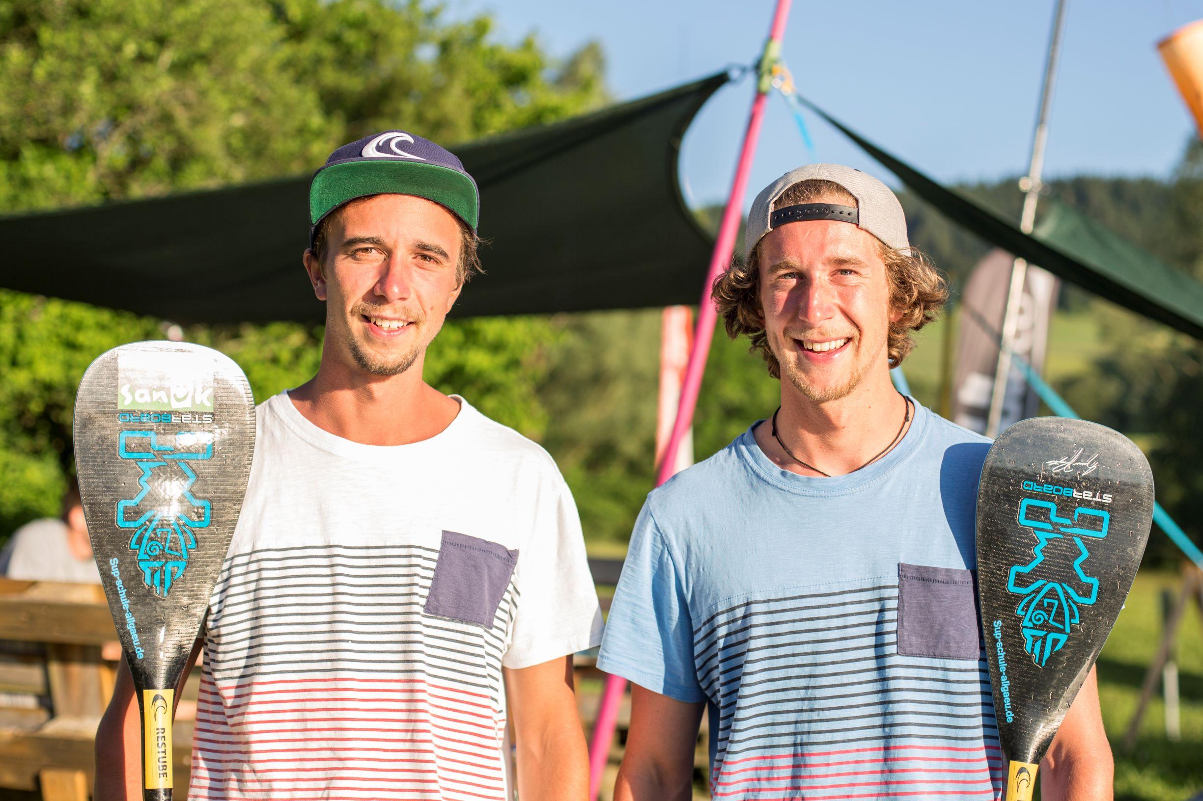 Lukas und Christof von der SUP Schule Allgäu